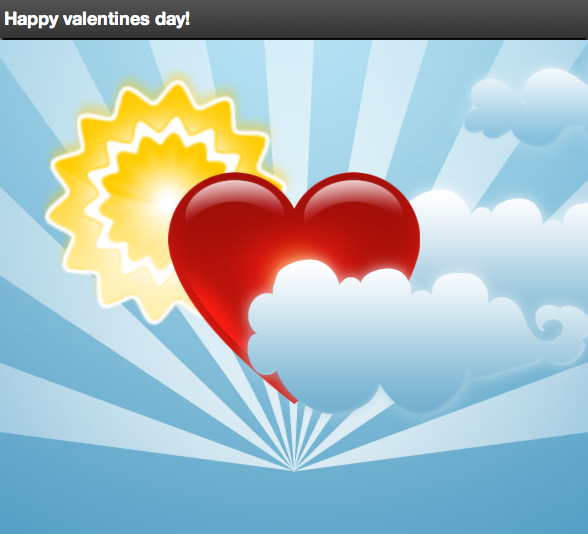 HTML5 valentines card