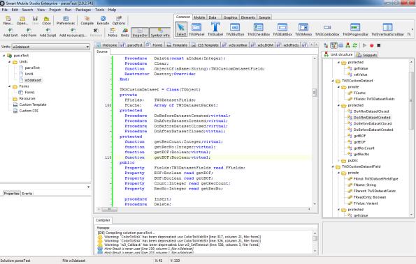 Screendump of my vmware for smart pascal