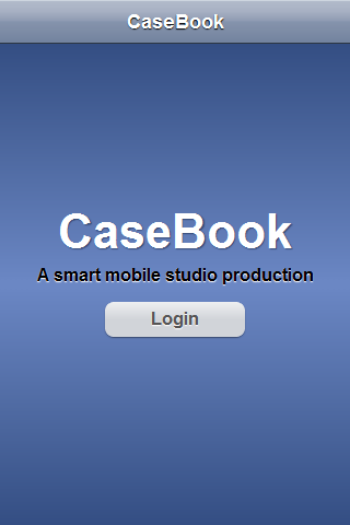 CaseBook welcome screen