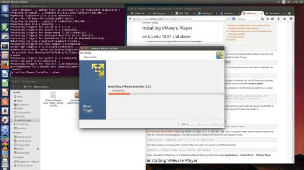 VMWare installing on our spanking new Linux system