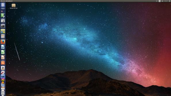 The Ubuntu desktop, more or less