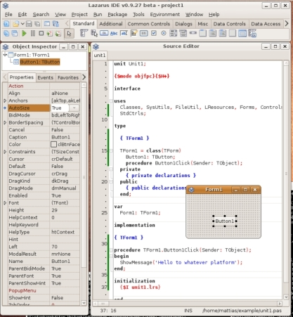 Freepascal / Lazarus IDE on Linux