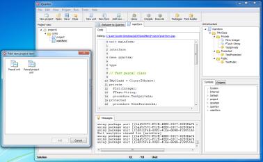 Quartex IDE, early prototype