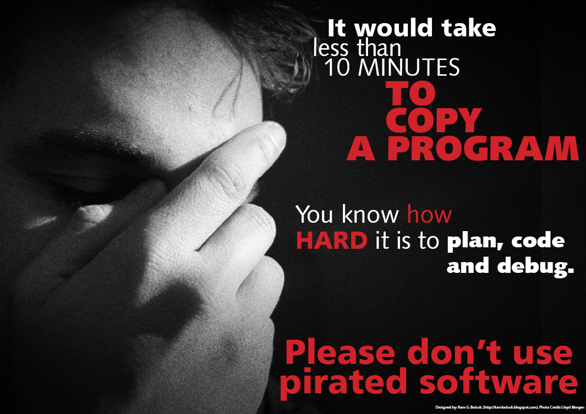 Software piracy. Are your on the pro or con side?