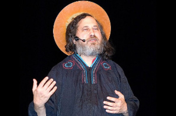 Stallman with his new Software Gospel