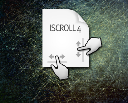 We now have full support for iScroll