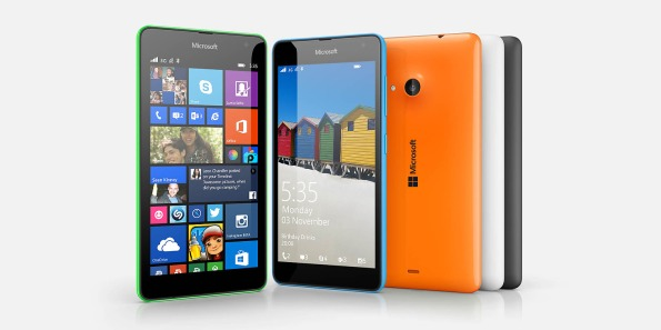 Microsoft Lumia in all it's squareness
