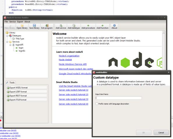 NodeJS builder