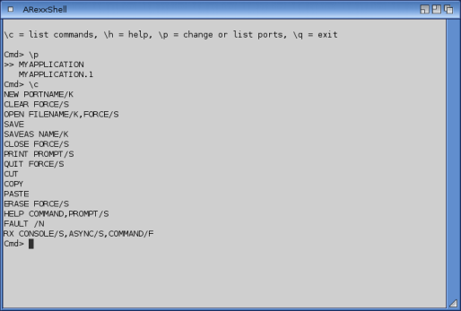 Listing REXX exported controller ports under Amiga OS
