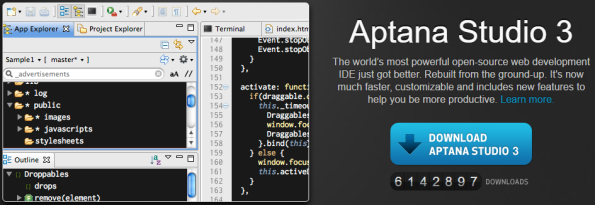 For pure JS work, Aptana is my favorite. Smart Mobile Studio is created for pascal programming.