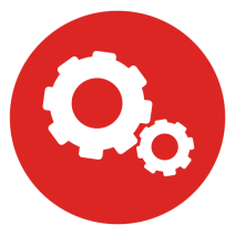 02237439ec5958f6ec7362f726a94696-cogwheels-red-circle-icon-by-vexels