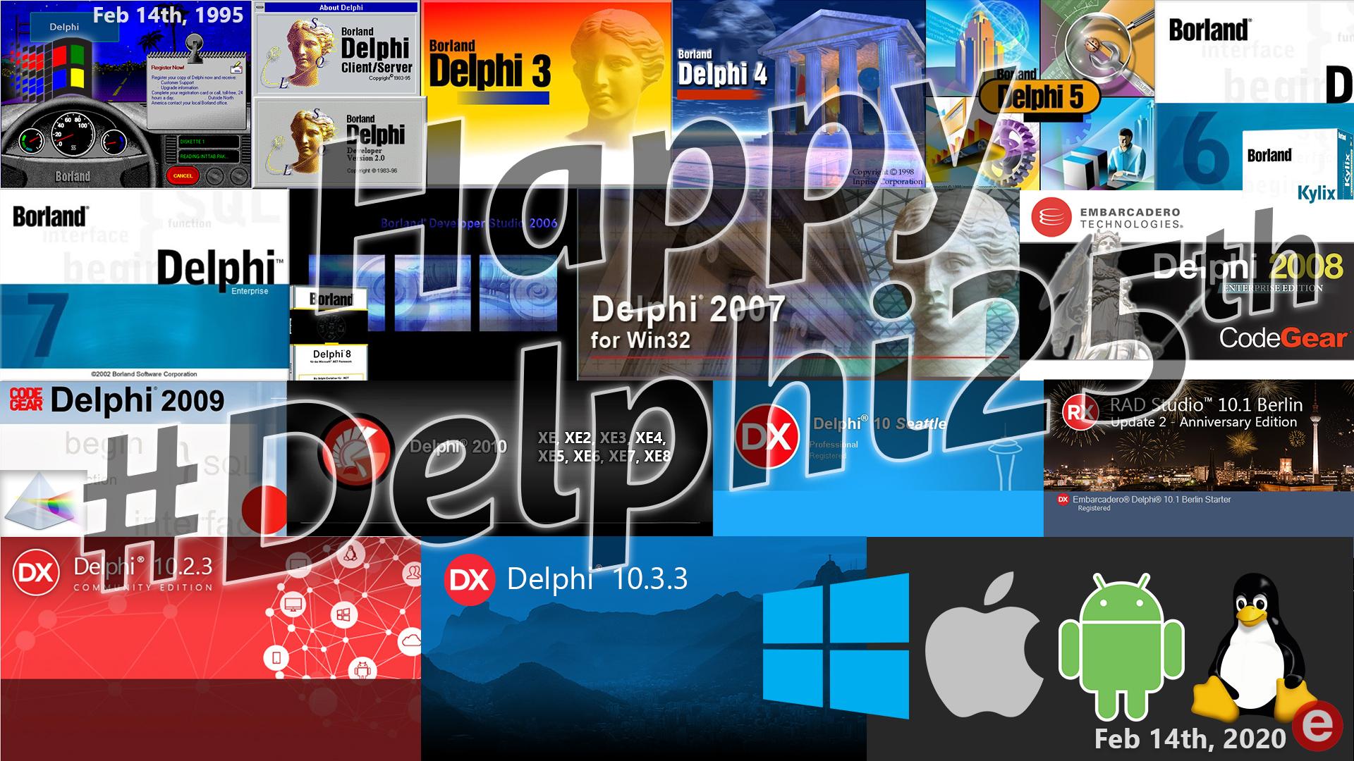 Delphi25th Splash Wallpaper